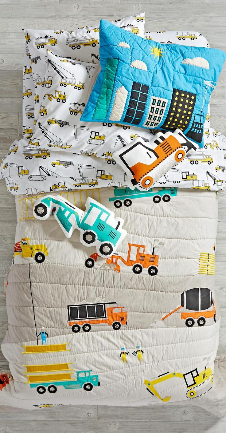 Little Boys Construction Bedding