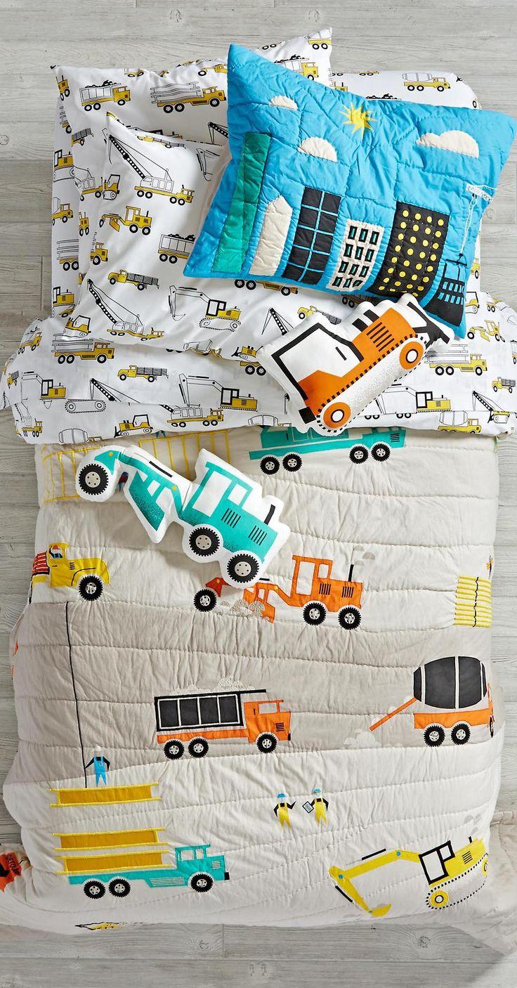 Little Boys Construction Bedding