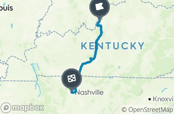 I-65 from Louisville to Nashville Map