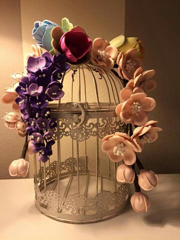 Gabbietta con fiori in Fommy