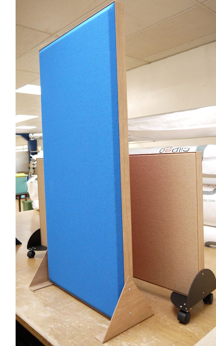 Acoustic Screens available double sided in a wide range of fabrics, sizes and shapes. #acoustics #screens #dividers #absorbers