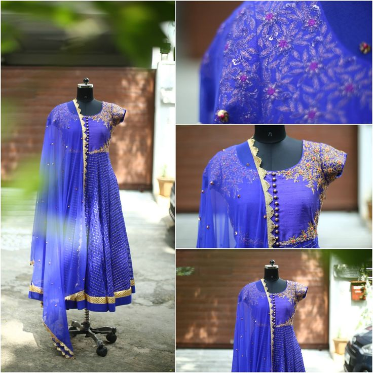 Go Royal with this royal blue checks anarkali. nallamz blue royalaffair anarkalilove fashion indian Code-A22 for orders you can call or whtzapp on 09966661159 email us at enquiry4nallamz@gmail.com 14 September 2016