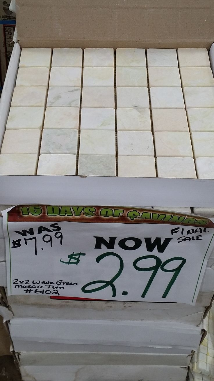 16 DAYS OF $AVINGS: Still great prices on stone mosaic tile!  Last Day …Hurry in! 46 Wright Ave Hotline 902-468-2319 www.happyharrysdartmouth.com