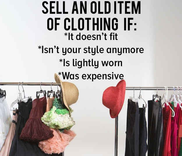Assess your reject pile and decide which items can be sold.