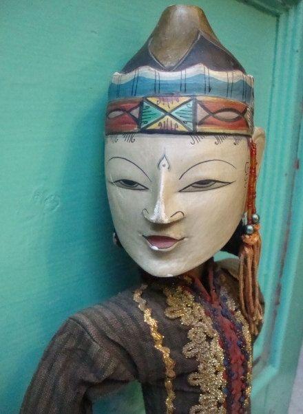 Antique Javanese Wayang / Golek Rod Puppet by FashionanticVintage