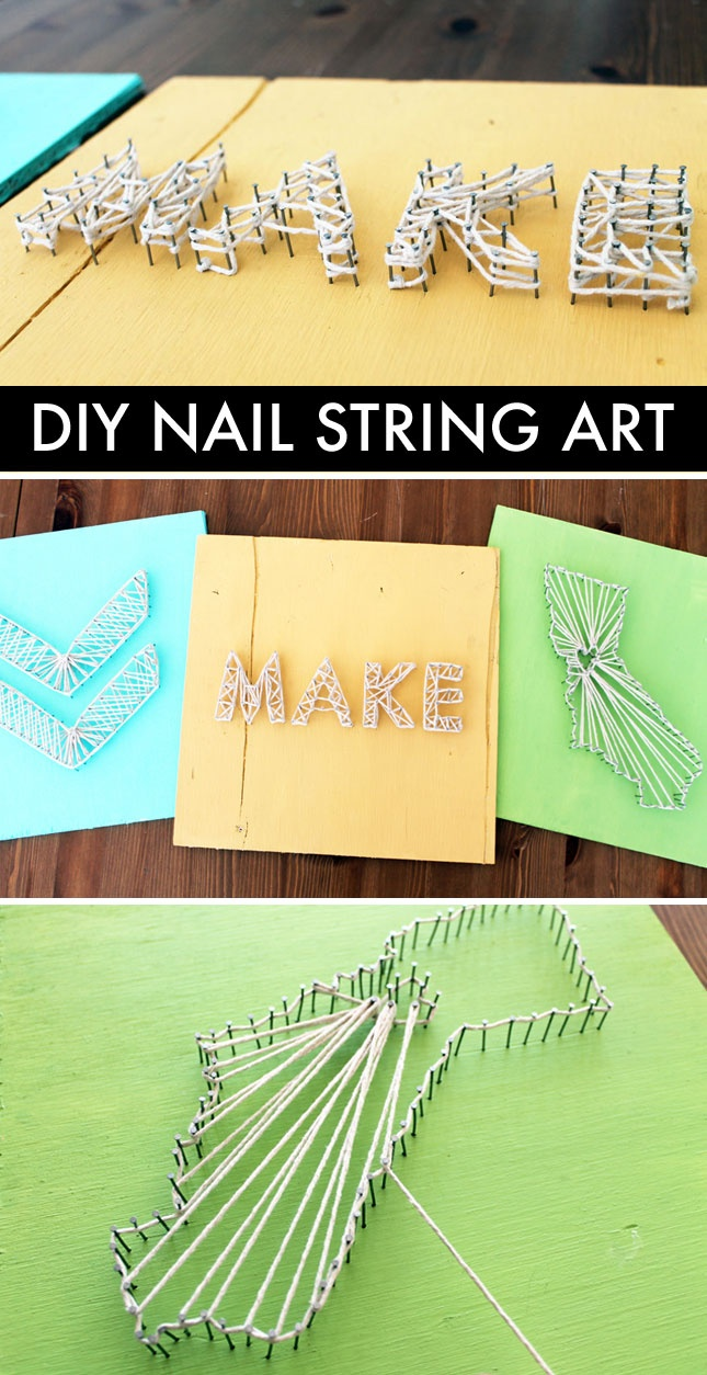 DIY Basic of the Week: Nail String Art!