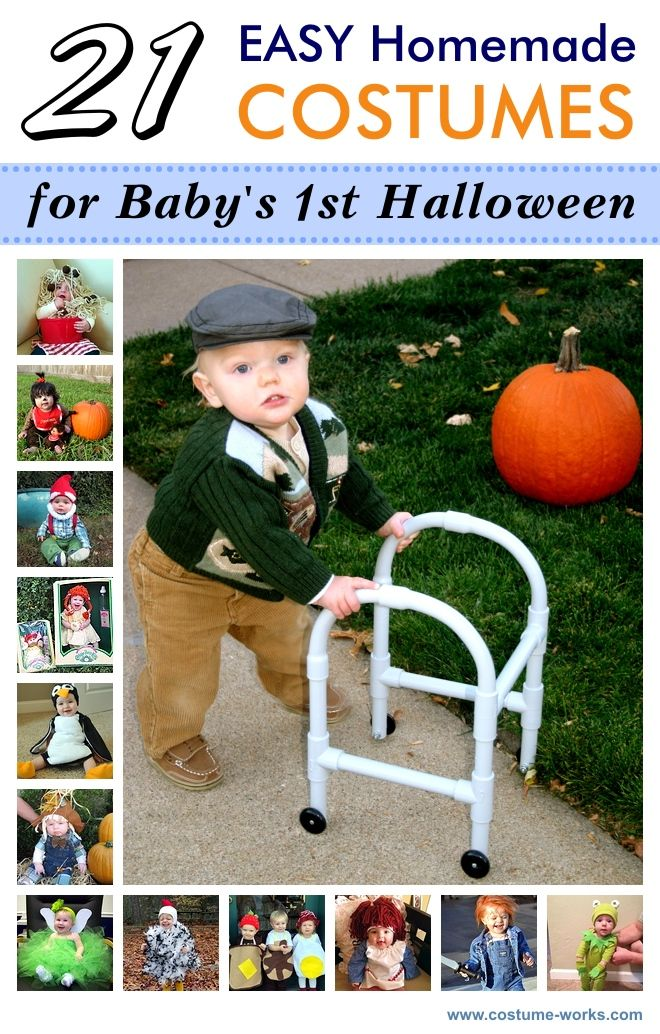21 Easy DIY Halloween Costumes for Baby's First Halloween via @costumeworks - even better for Braylon - and KASHIUS !! This year, or my new niece Maddelyn :) all my sil's are gonna hate me.