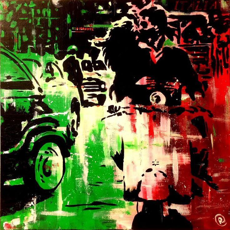 """""""Love in Italy"""" Acrylic on canvas 60x60 www.ricasso.se"""