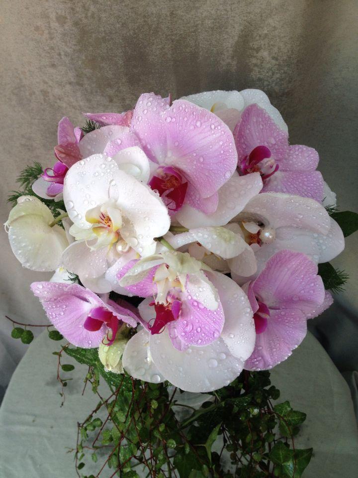 Bouquet da sposa con orchidee ...