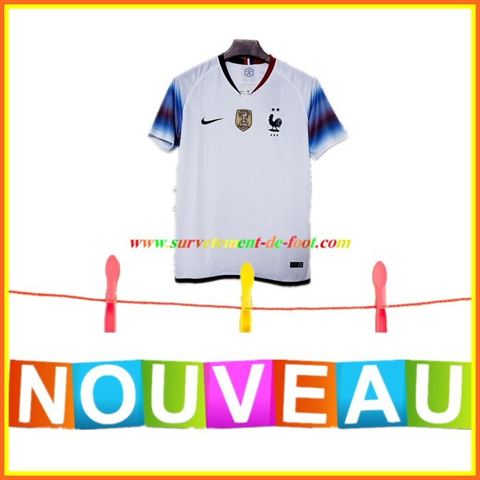 elegant shoes entire collection aliexpress Ancien Maillot de Foot France 2 Etoiles Exterieur Blanc 2019 ...