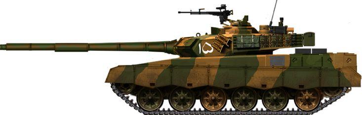 Al-Khalid MBT (2001) of a regular unit.