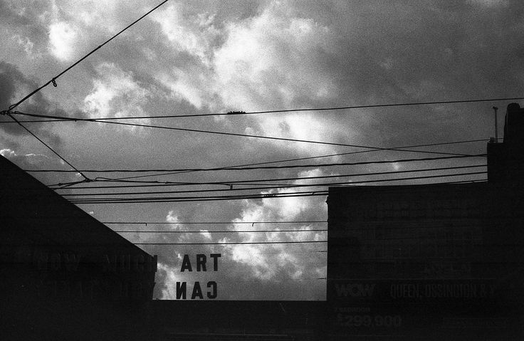 https://flic.kr/p/p16owZ | ART ИAƆ by scott williamson | photobook: http://bit.ly/wvrlght4 #35mm #film #analog #blackandwhite #monochrome #clouds #gloomy #art #typography #canona1