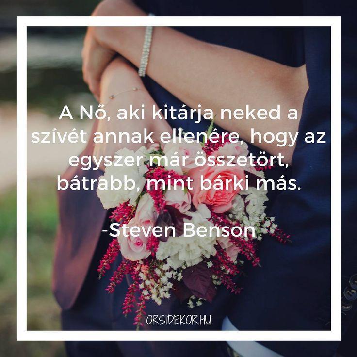 """""""A Nő, aki kitárja neked a szívét annak ellenére, hogy az egyszer már összetört, bátrabb, mint bárki más."""" - Steven Benson #idézet #szerelmesidézet #idézetekaszerelemről"""