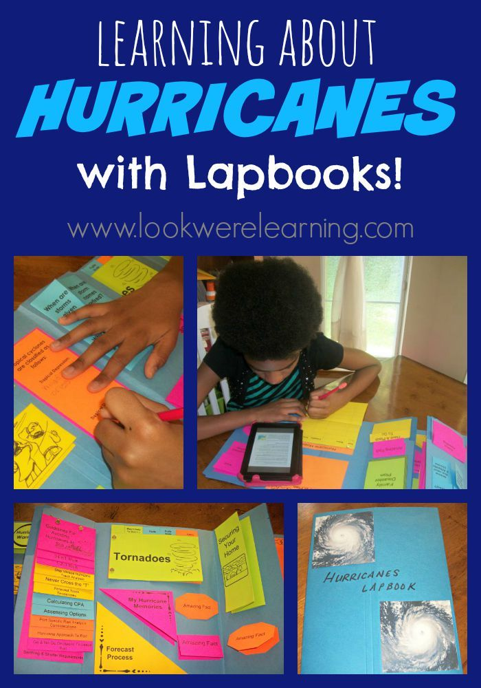 Making a Hurricane Lapbook. Hurricanes are such a powerful type of weather that effects the Texas coast often. It's important for students to know about them and this lap book is a creative way to do that.