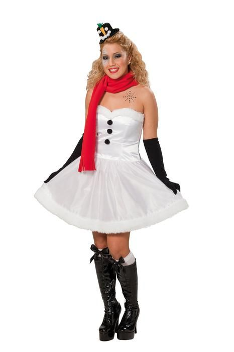 Snowman Christmas dress ladies - Las Fiestas