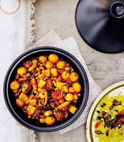 Marokkolainen kasvistagine   Moroccan vegetable tajine   Glorian Ruoka & Viini