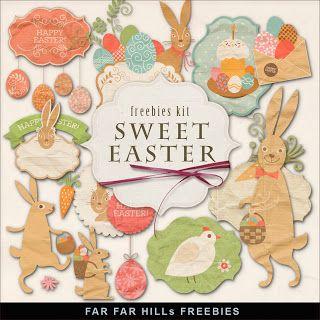 Far Far Hill: New Freebies Easter Kit