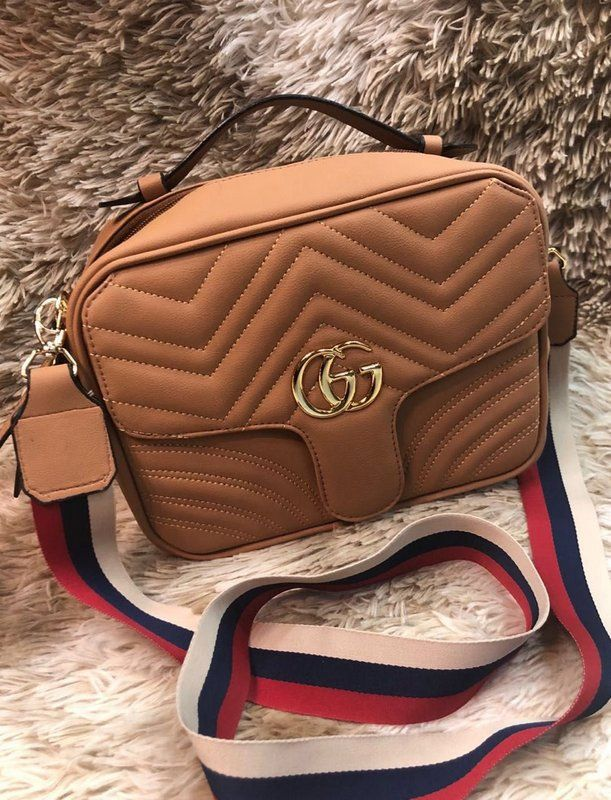 e10d3fa1f Bolsa Gucci Smart Bag Marmont – Caramelo – Alça Colorida | Bolsas ...
