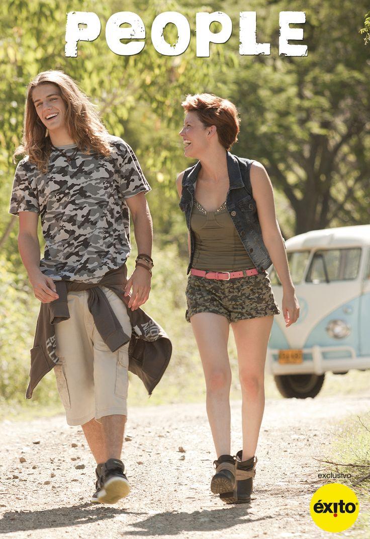 Con tus amigos sin planear el viaje http://www.jeansexito.com #VivoLaModa