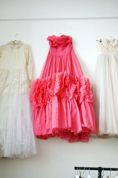 PINK vintage prom dressVintage Prom Dresses, Fuchsia Dresses, The Dresses, Dolly Dresses, Bi Elsabillgren
