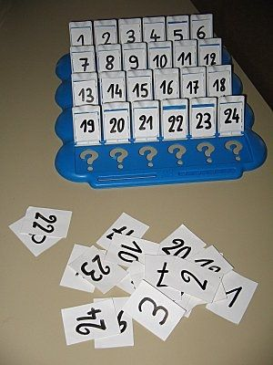 "Distret joc d'iniciació en el món dels nombres! ""Quien es quien con números"" - Aprendiendo matemáticas"