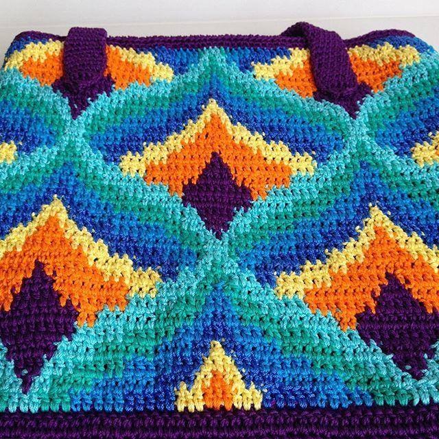 Crochet bargello bag