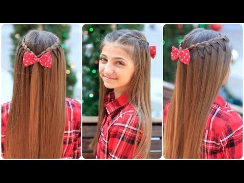 VIDEOTUTORIAL: TRENZA CASCADA PARA ADOLESCENTES | Belleza