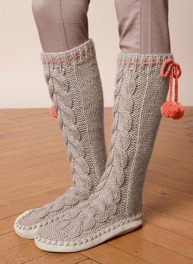 i-Smalls Chaussons-Chausettes Design Renne Tricoté Fairisle Homme fpicSi