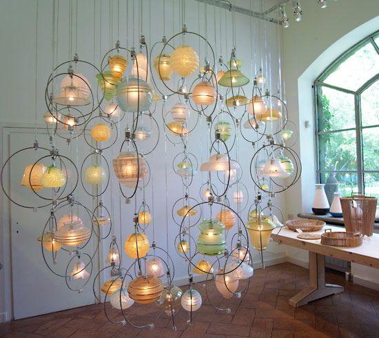 この照明すごいですー!結構場所をとりそうですが綺麗そうです!:piet hein eek chandelier