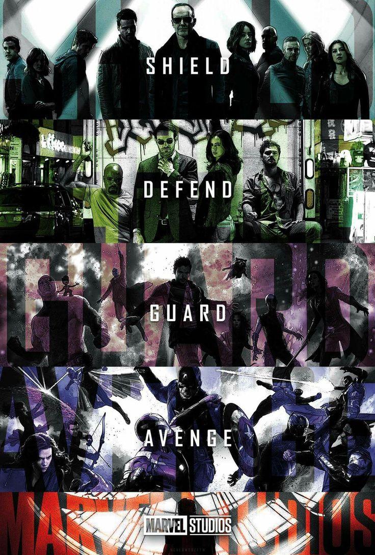 Shield, defend, guard, avenge, Marvel