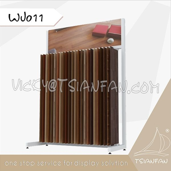 WJ011--Wood Timber Flooring Tile Display Rack