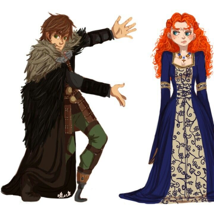 hiccup and merida meet disney