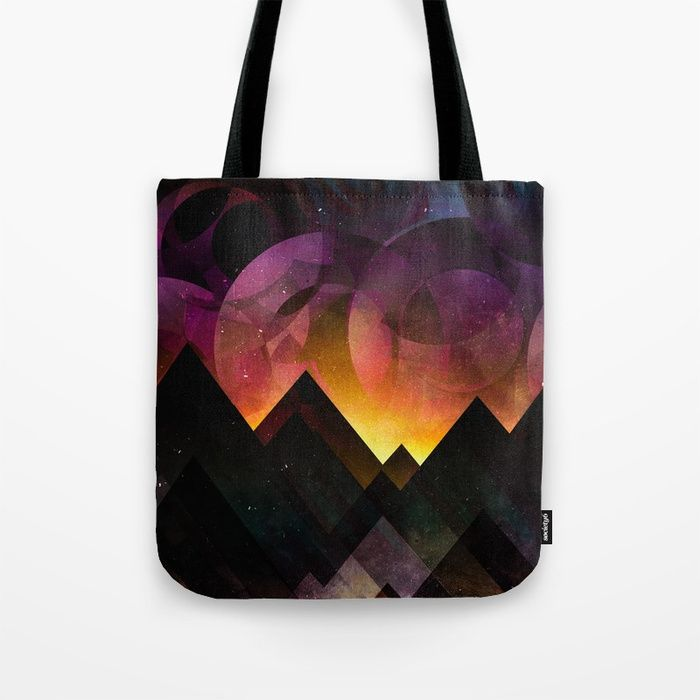 Whimsical mountain nights Tote Bag by HappyMelvin | Society6