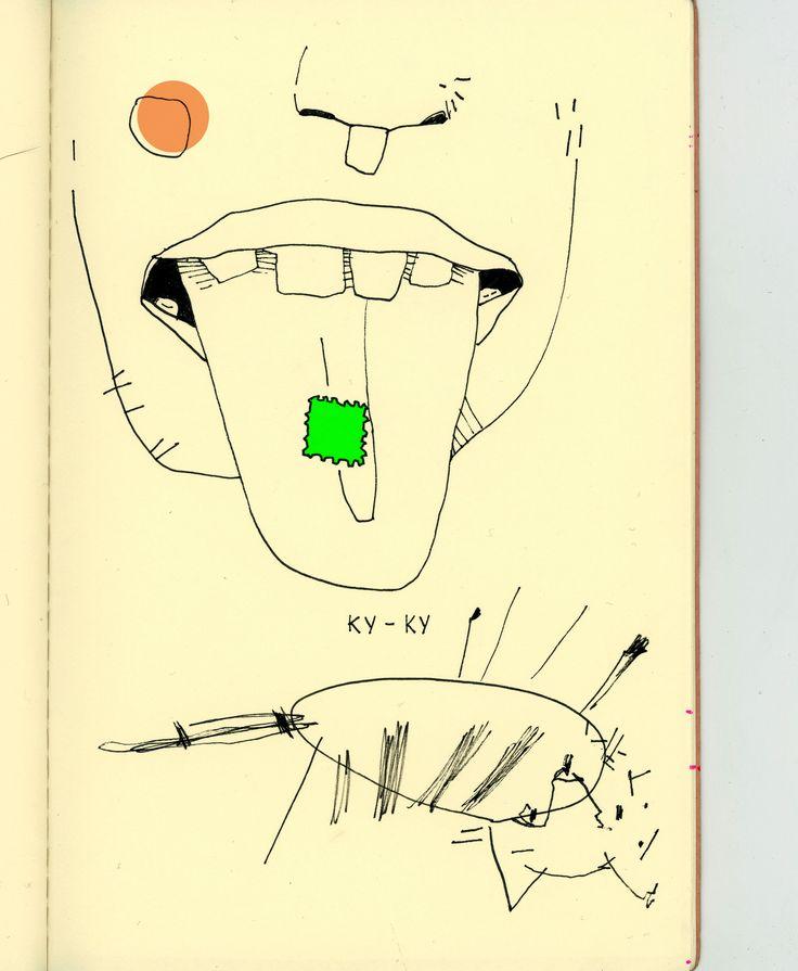 LSD tattoo  #ribawerner #tattoo #tattoos #tattooed #strange #strangetattoo #tattooart #artbruttattoo #tattooist #tattooing #tattrx #tattrxartist #sketch #sketchbook #lsd #stamp #lsdstamp #cat #psychedelic #lick #tongue