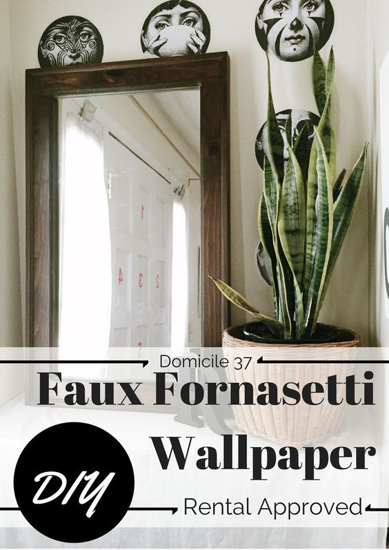 Fornasetti Hack | Temporary Wall paper idea | Contact Paper Wallpaper Idea | Wallpaper idea for Rental Living