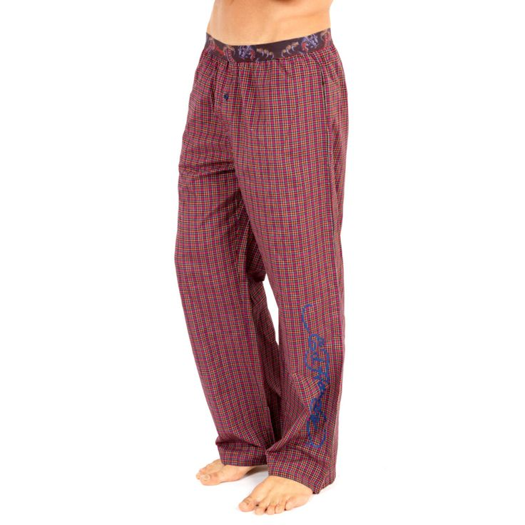 Ed Hardy Men's Panther Woven Sleep Pants – Red