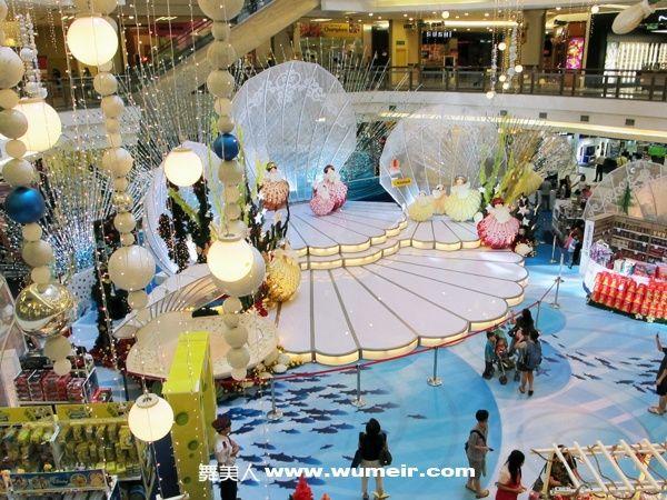 购物中心中庭,展示布景设计