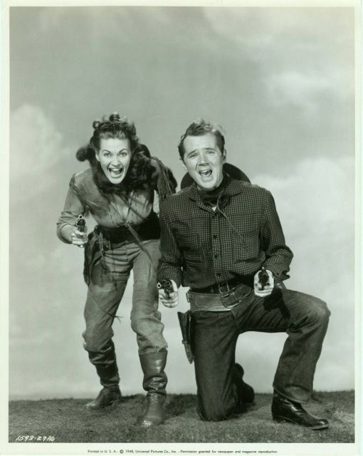 Calamity Jane and Sam Bass Yvonne De Carlo and Howard Duff Publicity still for Calamity Jane
