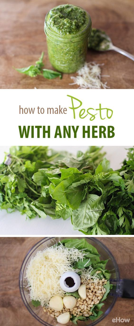 Pesto goes well with so many dishes, it's always good to have some on hand in the fridge or freezer! Here's how you can make fresh, all-natural ingredient pesto with your favorite herbs - basil, cilantro, you name it! | eHow