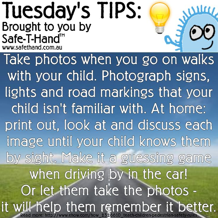 Road Safety Tip 'Take Photos & Discuss'  For more tips, competition pre-entry, discounts + more - Join our newsletter: www.safethand.com.au #road #safety #tips #safethand #fundraise #educate #child #pedestrian #teach