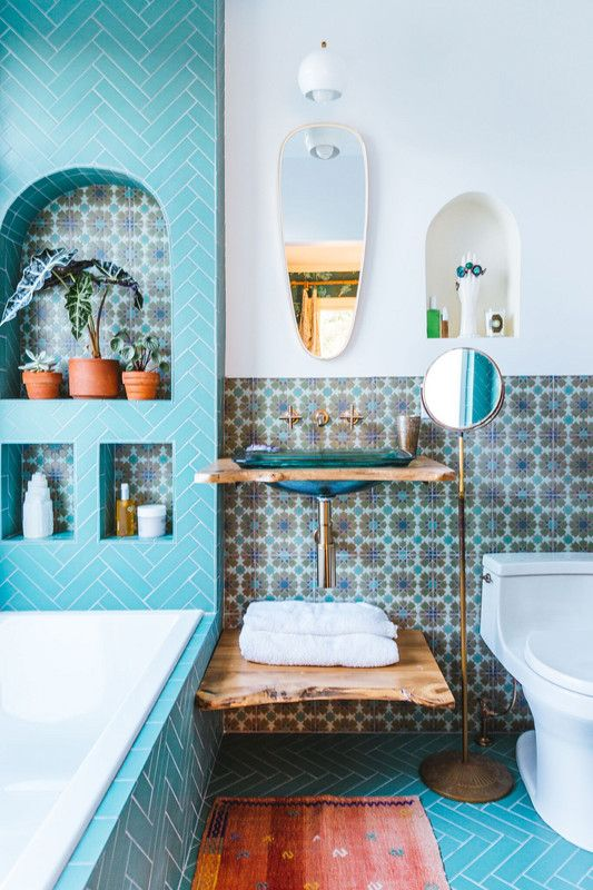 two toned walls in bathroom trend paint and tile ideas sir rh pinterest ph