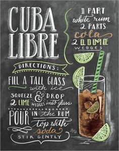 Poster Cuba Libre Rezept