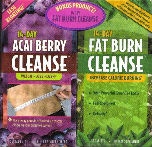 14 Day Acai Berry Cleanse with Bonus 14 Day Fat Burn Cleanse $28.99