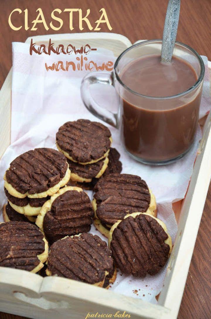 Kruche ciastka waniliowo – kakaowe