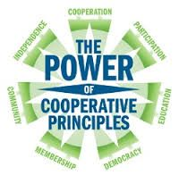 Cooperative Principles: (1) Voluntary & Open Membership; (2) Democratic Member Control; (3) Members' Economic Participation; (4) Autonomy & Independence, (5) Education, Training & Information; (6) Cooperation Among Cooperatives; (7) Concern for Community