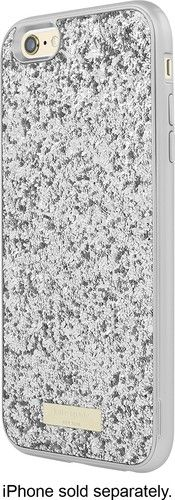 kate spade new york - Glitter Case with Bumper for Apple iPhone 6 Plus and 6s Plus - Silver/Exposed Glitter Silver