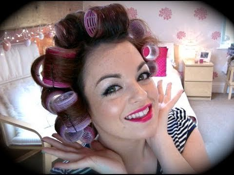 I have velcro rollers and thought I was doing it right. Oh she told me the RIGHT way…or at least a way better way!   Hair Tutorial: Velcro Rollers
