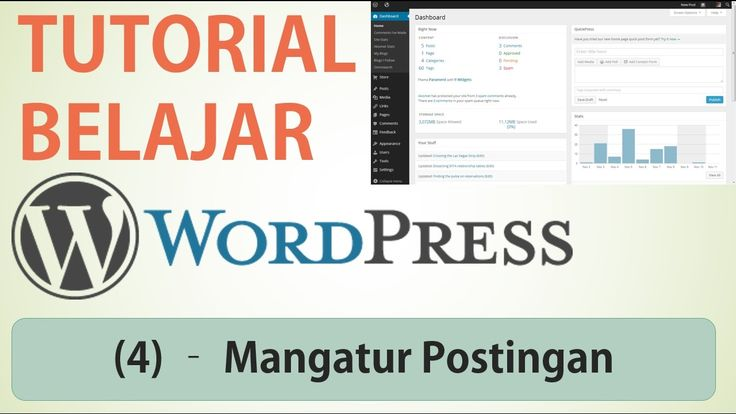 Belajar Wordpress - (3) Mengatur Postingan (Ubah Hapus Sorting Filter)