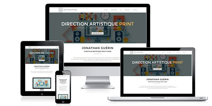 Site web en Responsive design + Portfolio (Wordpress)