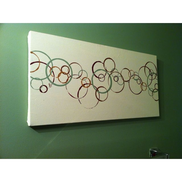 243405554834740753 diy canvas painting | DIY art   painted canvas cream; dipped cups, ... | Canvas painting